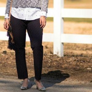 Ann Taylor Brown Polka-dot Pants